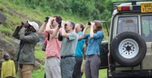 Having fun on our Kenya Group Birding Tour