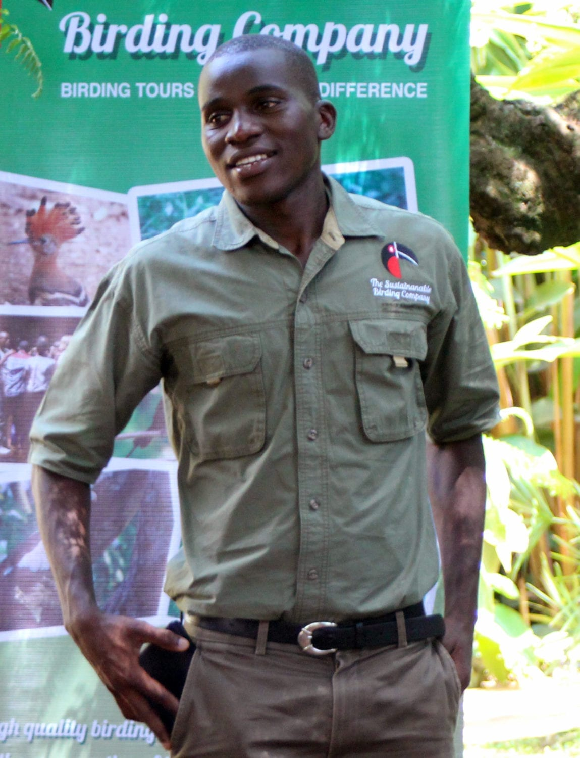 Arshley, our lead guide for Uganda Birding Tours