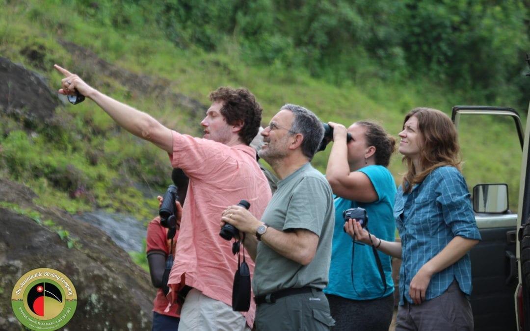 Our clients enjoying their time on our Uganda Birding Tours