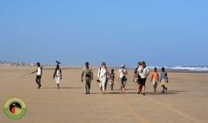 Trevor and the gang enjoying some coastal birding on one of our Kenya birding tours