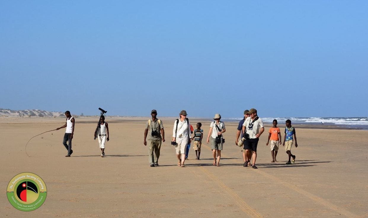 Trevor and the gang enjoying some coastal birding on one of our Kenya birding tours