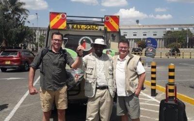 Simon and Jeff finishing their Kenya Birding Tour on 348 species!