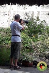 Wolfram on one our Kenya birding tours