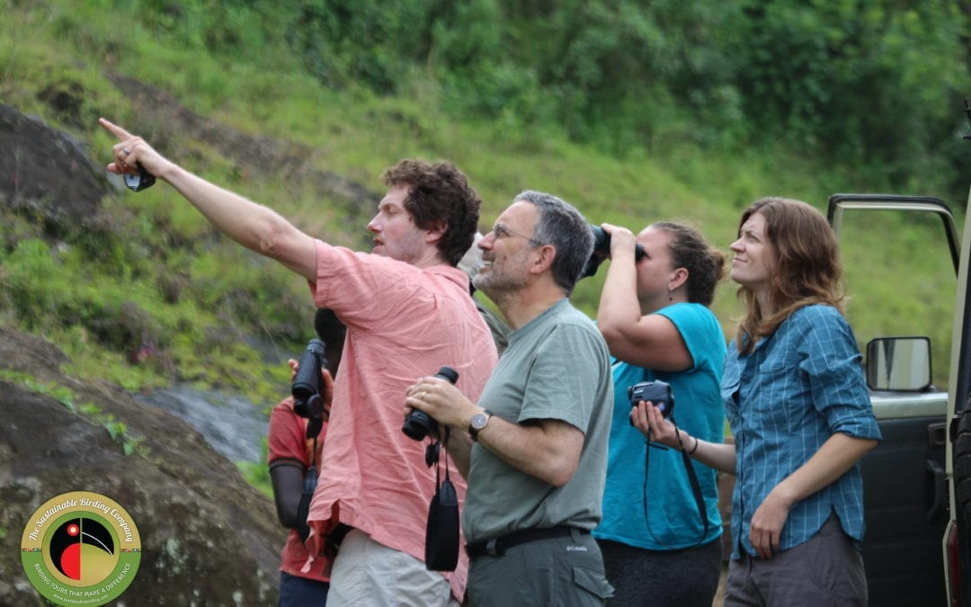 Dr Rosenthal and his colleagues enjoying their Uganda Birding Tour!